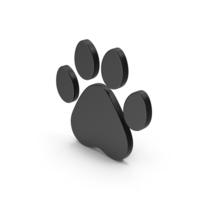 Symbol Animal Paw Black PNG & PSD Images