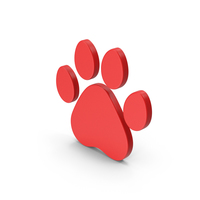 Symbol Animal Paw Red PNG & PSD Images