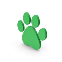 Symbol Animal Paw Green PNG & PSD Images