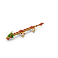 Traditional Chinese Dragon Neutral Pose PNG & PSD Images