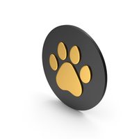 Animal Paw Gold Icon PNG & PSD Images