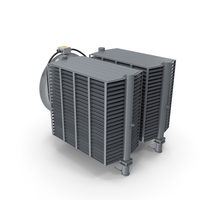 Industrial Radiator with Fan PNG & PSD Images