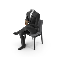 Chair Coffee Suit Black PNG & PSD Images