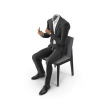 Chair Fuck Suit Black PNG & PSD Images