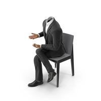 Chair Discussion Phone Suit Black PNG & PSD Images