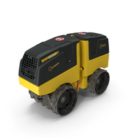 Trench Roller Bomag BMP 8500 Dirty PNG & PSD Images