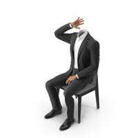 Chair Waiting Suit Black PNG & PSD Images