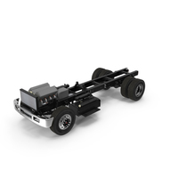 Truck Chassis with Simple Engine PNG & PSD Images
