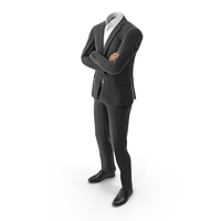 Black Suit Crossed Arms PNG & PSD Images