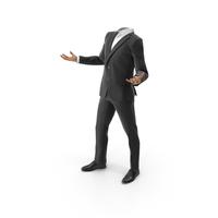 Confused Suit  v2Black PNG & PSD Images