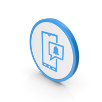 Icon Phone Notification Blue PNG & PSD Images