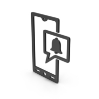 Symbol Phone Notification Black PNG & PSD Images