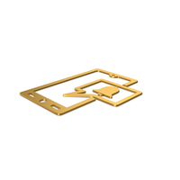 Gold Symbol Phone Notification PNG & PSD Images
