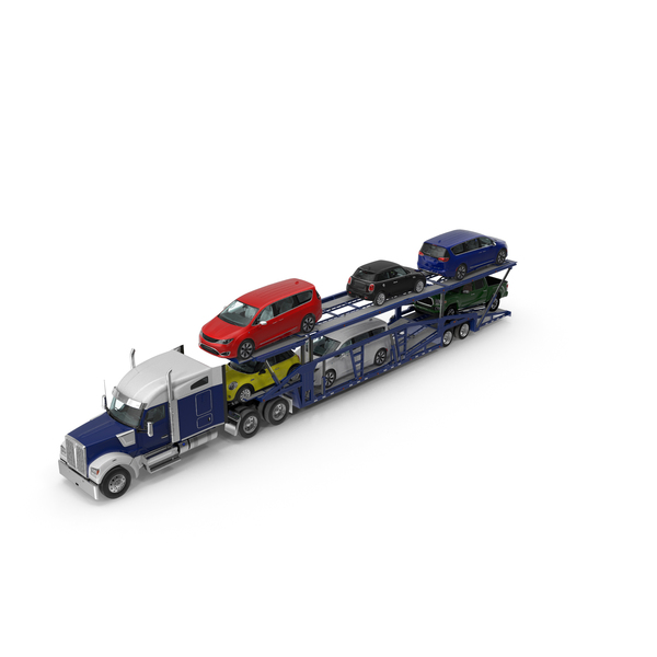 Truck with Car Carrier PNG & PSD Images