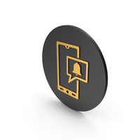 Phone Notification Gold Icon PNG & PSD Images