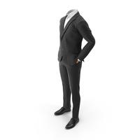 Hands in Pockets Suit Black PNG & PSD Images
