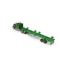 Truck with Terminal Trailer Chassis PNG & PSD Images