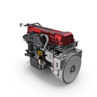 Turbo Diesel Truck Engine Generic PNG & PSD Images