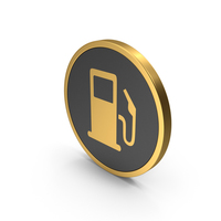 Gold Icon Fuel Station PNG & PSD Images