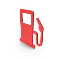 Symbol Fuel Station Red PNG & PSD Images
