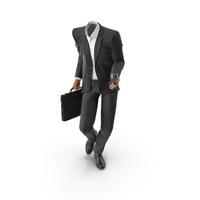 Posing Bag Phone Suit Black PNG & PSD Images