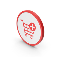 Icon Add To Shopping Cart Red PNG & PSD Images