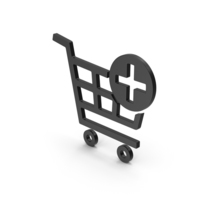 Symbol Add To Shopping Cart Black PNG & PSD Images