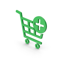 Symbol Add To Shopping Cart Green PNG & PSD Images