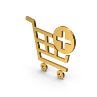 Symbol Add To Shopping Cart Gold PNG & PSD Images