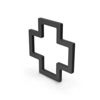 Symbol Cross Black PNG & PSD Images