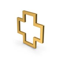 Symbol Cross Gold PNG & PSD Images