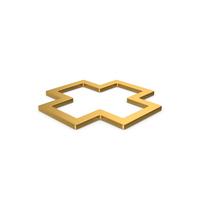 Gold Symbol Cross PNG & PSD Images
