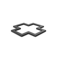 Black Symbol Cross PNG & PSD Images