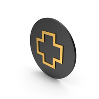 Cross Gold Icon PNG & PSD Images