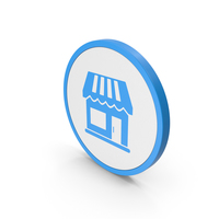 Icon Market Blue PNG & PSD Images