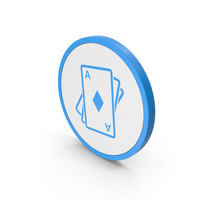 Icon Playing Cards Blue PNG & PSD Images