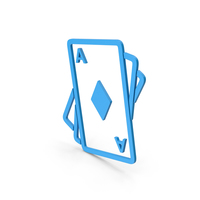 Symbol Playing Cards Blue PNG & PSD Images