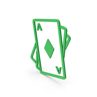Symbol Playing Cards Green PNG & PSD Images