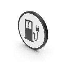 Icon Electric Vehicle Charging Station PNG & PSD Images
