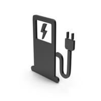 Symbol Electric Vehicle Charging Station Black PNG & PSD Images