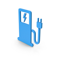 Symbol Electric Vehicle Charging Station Blue PNG & PSD Images