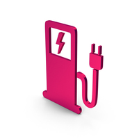 Symbol Electric Vehicle Charging Station Metallic PNG & PSD Images