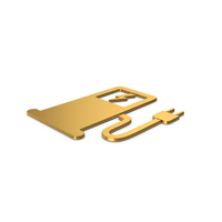 Gold Symbol Electric Vehicle Charging Station PNG & PSD Images
