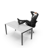 Relax Table Chair Suit Black PNG & PSD Images