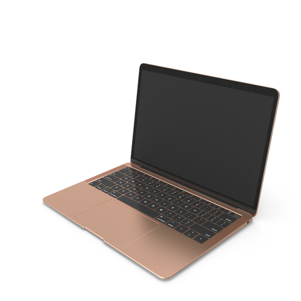 Ultraportable Laptop Gold PNG & PSD Images