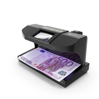 Ultraviolet Counterfeit Detector and 500 Euro PNG & PSD Images