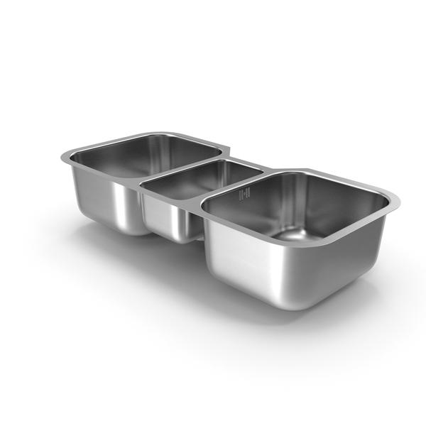 Undermount Triple Bowl Kitchen Sink PNG & PSD Images