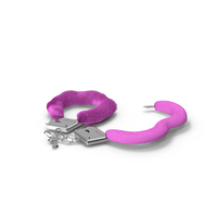 Unfastened Pink Handcuffs Fur PNG & PSD Images