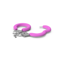 Unfastened Steel Pink Handcuffs PNG & PSD Images