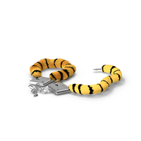 Unfastened Tiger Handcuffs Fur PNG & PSD Images
